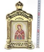 Умягчение злых сердец Б.М., керамика, икона купол большая, цвет золото (СА).