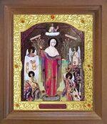 Всех скорбящих радость Б.М. Икона в деревянной рамке с окладом (Д-26псо-110)