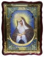 Остробрамская Б.М., в фигурном киоте, с багетом. Храмовая икона (60 Х 80)