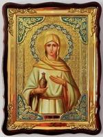 Мария Магдалина, в фигурном киоте, с багетом. Храмовая икона 60 Х 80 см.