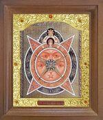Всевидящее око. Икона в деревянной рамке с окладом (Д-26псо-111)