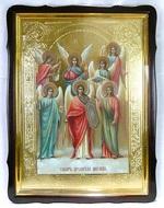 Собор Арх. Михаила, в фигурном киоте, с багетом. Храмовая икона 60 Х 80 см.