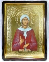 Ксения Петербургская, в фигурном киоте, с багетом. Храмовая икона 60 Х 80 см.