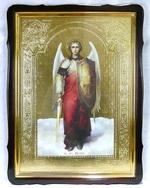Арх. Михаил (рост), в фигурном киоте, с багетом. Храмовая икона 60 Х 80 см.