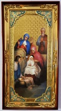 Рождество Пресвятой Богородицы, с багетом. Большая Храмовая икона (58 х 110)