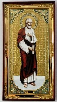 Апостол Варфоломей (рост), с багетом. Большая Храмовая икона (58 х 110)