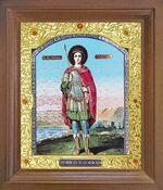 Георгий Победоносец (рост). Икона в деревянной рамке с окладом (Д-26псо-113)