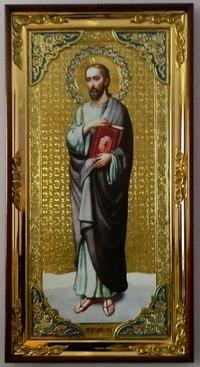 Апостол Иаков Алфеев (рост), с багетом. Большая Храмовая икона (58 х 110)