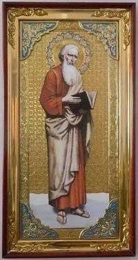 Апостол Матфей (рост), с багетом. Большая Храмовая икона (58 х 110)