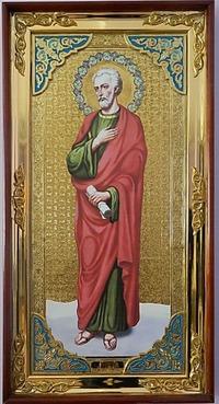 Апостол Фома (рост), с багетом. Большая Храмовая икона (58 х 110)