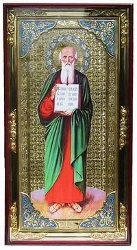 Иоанн Богослов (рост), с багетом. Большая Храмовая икона (58 х 110)