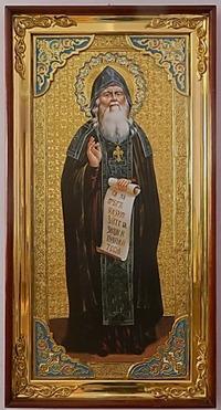 Амфилохий Почаевский (рост), с багетом. Большая Храмовая икона (58 х 110)