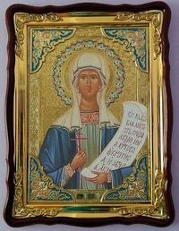 Дарья Св. муч., в фигурном киоте, с багетом. Храмовая икона 60 Х 80 см