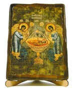 Агнец Божий, икона под старину, на дереве (17х23)