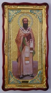 Василий, Преп. (рост), в фигурном киоте, с багетом. Большая Храмовая икона (61 х 112)