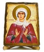 Ангелина, Св.Муч., икона под старину, на дереве (17х23)