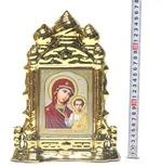 Казанская Б.М., керамика, икона большая купола, цвет золото (СА).