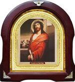 Спаситель в терновом венце. Аналойная арочная икона (А-23)