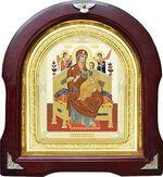 Всецарица Б.М. Аналойная арочная икона (А-31)