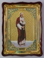 Апостол Варфоломей, в фигурном киоте, с багетом. Храмовая икона (60 Х 80)