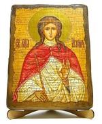 Агния, Св.Муч, икона под старину, на дереве (17х23)
