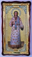 Стефан, Св. муч. (рост, светлое одеяние), в фигурном киоте, с багетом. Большая Храмовая икона (61 х 112)