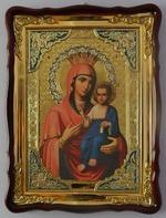 Иверская Б.М., в фигурном киоте, с багетом. Храмовая икона (60 Х 80)