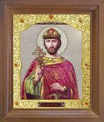 Игорь Черниговский, Св.Вел.Князь. Икона в деревянной рамке с окладом (Д-26псо-123)