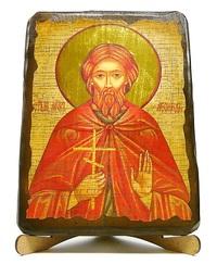 Леонид, Св.Муч., икона под старину, на дереве (17х23)