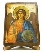 Архангел Михаил (пояс), икона под старину, на дереве (17х23)