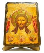 Спас Нерукотворный, икона под старину, на дереве (17х23)