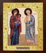 Иоаким и Анна. Икона в окладе средняя (Д-21-125)