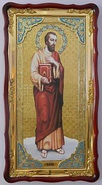 Апостол Иуда (рост), в фигурном киоте, с багетом. Большая Храмовая икона (61 х 112)