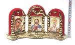 Иконостас большой, флокированный, керамика, цвет золото (СА).