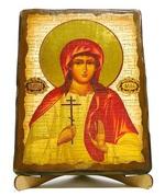 Алла, Св.Мч., икона под старину, на дереве (17х23)