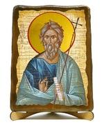 Андрей Первозванный, икона под старину, на дереве (17х23)