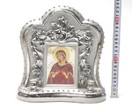 Семистрельная Б.М., керамика, икона большая, цвет серебро (СА).
