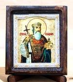 Владимир Св.Князь, Икона Византикос, полуоклад, 8Х6
