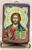 Спаситель, икона под старину, сургуч (8 Х 10)