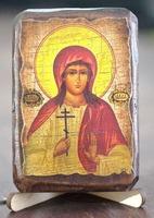 Алла, Св.Мч., икона под старину, сургуч (8 Х 10)