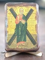 Андрей Первозванный (рост), икона под старину, сургуч (8 Х 10)
