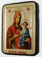 Иверская Б.М., икона Греческая, 13 Х 17