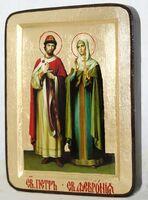 Петр и Феврония, икона Греческая, 13 Х 17