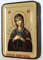 Семистрельная Б.М., икона Греческая, 13 Х 17