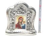 Казанская Б.М., керамика, икона большая, цвет серебро (СА).