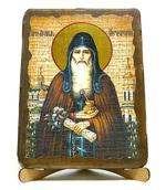 Агапит Печерский, икона под старину, на дереве (17х23)