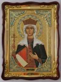 Елена,Св.Р.Ап., в фигурном киоте, с багетом. Храмовая икона (60 Х 80)