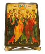 Собор 12 апостолов, икона под старину, на дереве (17х23)