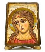 Ангел златовласый, икона под старину, на дереве (17х23)