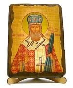 Иннокентий, Святитель, икона под старину, на дереве (17х23)